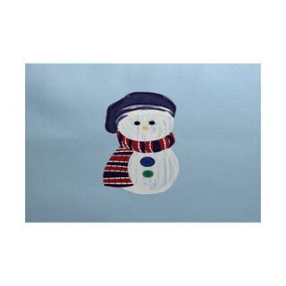 Sock Snowman Geometric Print Indoor/ Outdoor Rug (2' x 3')