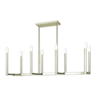 Livex Lighting Alpine Polished Nickel and Steel 8-light Linear Chandelier
