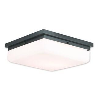 Livex Lighting Allure English Bronze Flush-mount Four-light Fixture