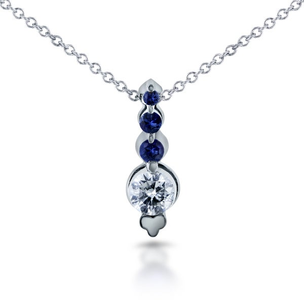 Annello by kobelli 14k white gold 110ct sapphire and 14ct tdw annello by kobelli 14k white gold 110ct sapphire and 14ct tdw diamond aloadofball Image collections
