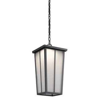 Kichler Lighting Amber Valley Collection 1-light Textured Black Outdoor LED Pendant