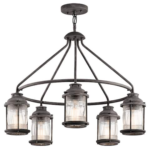 Kichler Lighting Ashland Bay Collection 5-light Weathered Zinc Outdoor Chandelier