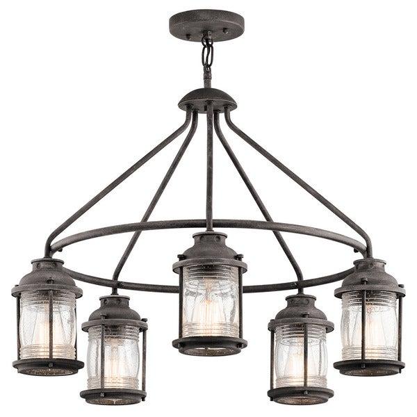 kichler lighting outdoor. interesting kichler lighting ashland bay collection light weathered zinc outdoor chandelier with lights
