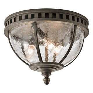 Kichler Lighting Halleron Collection 3-light Londonderry Outdoor Flush Mount