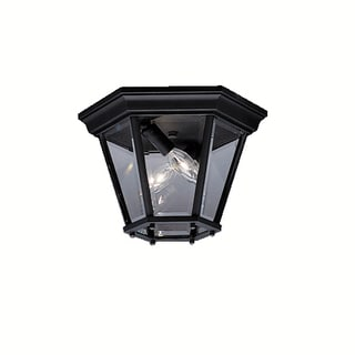 Kichler Lighting Madison Collection 2-light Black Outdoor Flush Mount