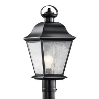 Kichler Lighting Mount Vernon Collection 1-light Black Outdoor Post Lantern