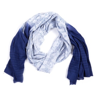 Nature's Blue Dip-Dye Scarf (India)
