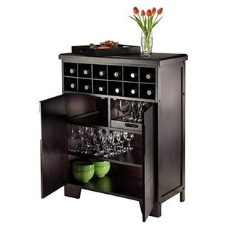 Bonnay 92632-WW Brown Wood Wine Cabinet