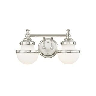 Livex Lighting Oldwick Polished Chrome Two-Light Bath Vanity