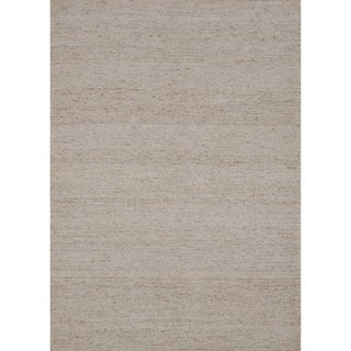 Flat-weave Maddox Neutral Viscose Rug (5'0 x 7'6)