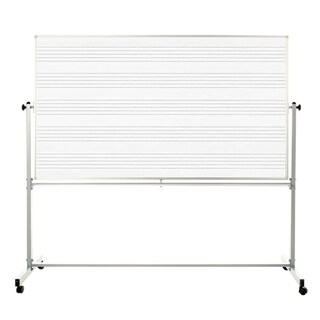 Offex MB7248MM 72 x 48-inch Mobile Double Sided Music Whiteboard