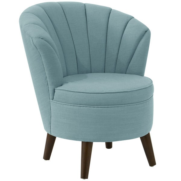 Shop Angelo Home Channel Seam Linen Seaglass Tub Chair