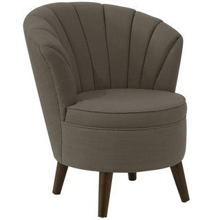 angelo:HOME Espresso Slate Linen/Polyester/Polyurethane/Pine Channel-seam Tub Chair