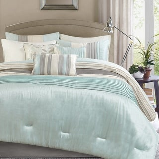 Madison Park Eastridge Aqua 7-piece Comforter Set
