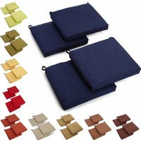 Blazing Needles All-weather UV-resistant Outdoor Chair Cushions (Set of 4) in Azul (As Is Item)