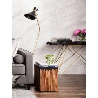 aurelle home solid teak live edge console table - Teak Bookshelves