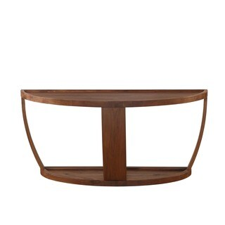 Aurelle Home Solid American Walnut Console Table