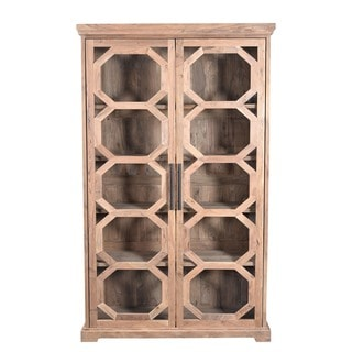 Aurelle Home Solid Wood Cabinet