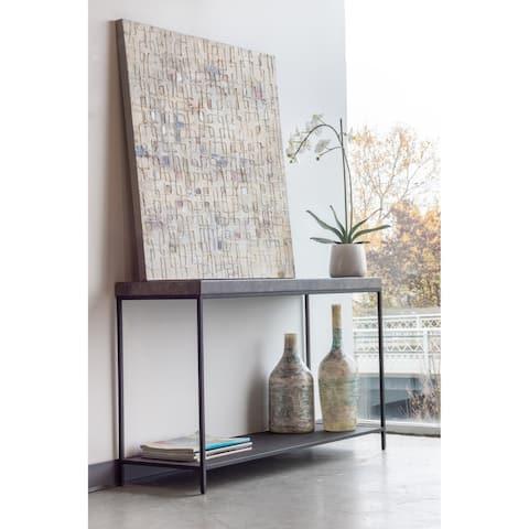 "Aurelle Home Melisa Modern Marble Console Table - 57"" x 22"" x 35"""