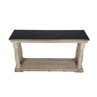 Aurelle Home Reclaimed Zinc Covered Console