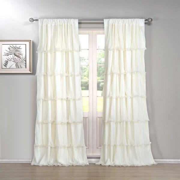 Festival 84-inch Ruffled Curtain Panel