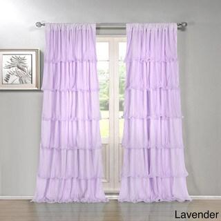 Festival 84-inch Ruffled Curtain Panel