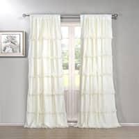 The Gray Barn Pasanen 84-inch Ruffled Curtain Panel