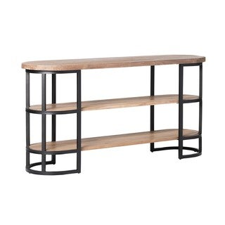 Aurelle Home Solid Rustic Console Table