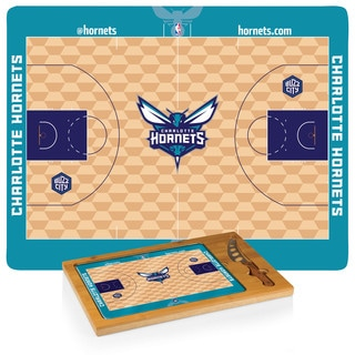 Picnic Time Charlotte Hornets Bamboo Cutting Board and Stainless Steel Knife Set