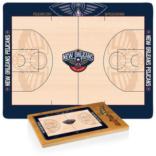 Picnic Time New Orleans Pelicans Basketball Design Icon Cutting Board/Tray and Knife Set