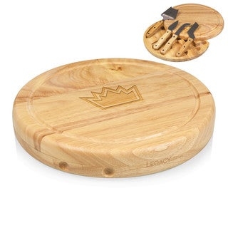 Picnic Time Sacramento Kings Natural Wood, Stainless Steel Circo Cheese Board and Tool Set