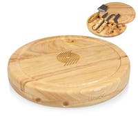 Picnic Time Circo Wood and Stainless Steel Portland Trailblazers Cheese Board and Tools Set