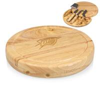 Picnic Time Circo Oklahoma City Thunder Natural Rubberwood/Stainless Steel Cheese Board and Tools Set