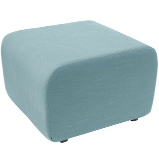 angelo:HOME Blue/Sea-glass Polyester/Pine Cocktail Ottoman