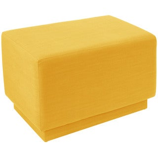 angelo:HOME Yellow Linen Square Ottoman