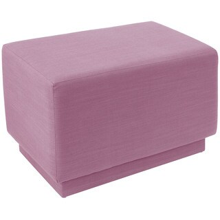 angelo:HOME Lavender Polyester/Pine Square Ottoman