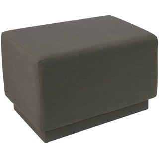 angelo:HOME Slate Polyester/Linen Square Ottoman