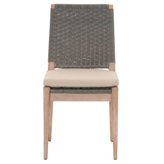 Gray Manor Glenn Distressed/Tan Mahogany/Fabric Dining Chair
