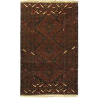 eCarpetGallery Rizbaft Brown Wool Hand-knotted Rug (3'8 x 6'1)