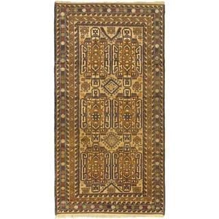 eCarpetGallery Khandahar Finest Ivory/Beige Wool Hand-knotted Rug (3'6 x 6'9)