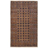 eCarpetGallery Herati Blue Wool Hand-knotted Rug (3'11 x 6'8)