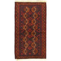 eCarpetGallery Finest Rizbaft Red Wool Hand-knotted Rug (3'8 x 6'8)