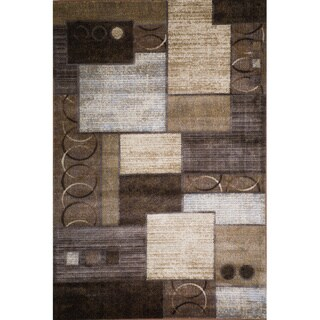 Christopher Knight Home Weslyn Dahlia Brown/Gold Geometric Rug (7' x 9')
