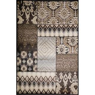 Christopher Knight Home Weslyn Tamara Blue/Brown Geometric Rug (3' x 5')