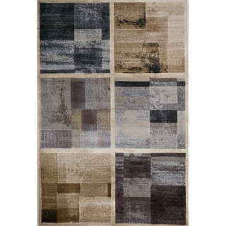 Christohper Knight Home Weslyn Gabriella Blue/Gold Abstract Rug (8' x 10')