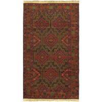 eCarpetGallery Khandahar Red Hand-knotted Wool Rug (3'5 x 6'0)
