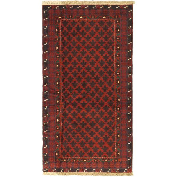 eCarpetGallery Finest Rizbaft Red Wool Hand-knotted Rug (3'7 x 6'9)