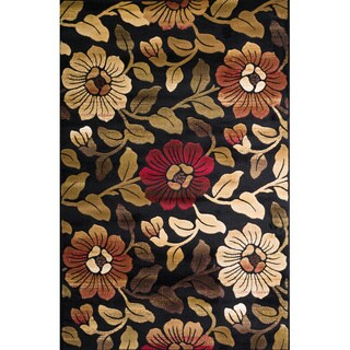Christopher Knight Home Violetta Geneva Black Floral Rug (8' x 10')