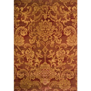 Christopher Knight Home Yetta Lacy Red Floral Rug (8' x 11')