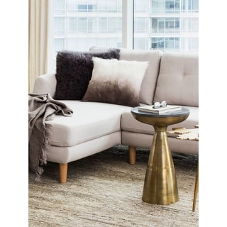 Aurelle Home Brass Vintage Metal Side Table